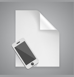 Paper symbol phone vector