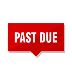 Past due red tag vector