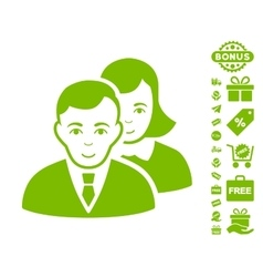 People Icon With Free Bonus vector