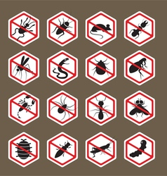 Pests Insects Bugs Prohibition Repellent Sign vector image