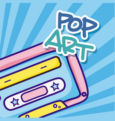 Pop art cartoons vector