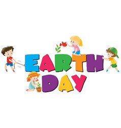 poster design with earth day theme vector image