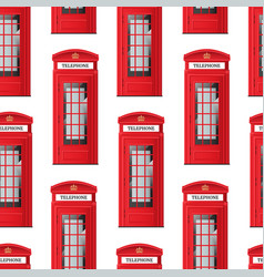 realistic detailed 3d red london phone booth vector image