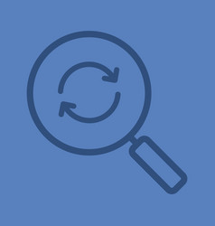 refresh search linear icon vector image