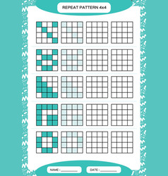 Repeat blue pattern cube grid with squares vector