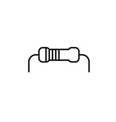 resistor icon vector image