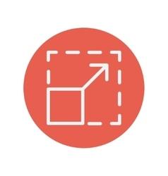 Responsive design thin line icon vector