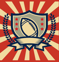 Retro american football sport emblem vector
