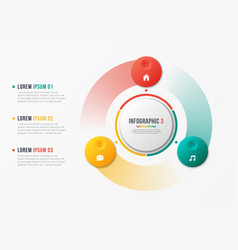 Rotating circle chart template infographic design vector