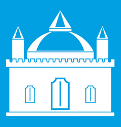 royal castle icon white vector image