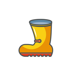rubber boot industrial protection safety fill vector image
