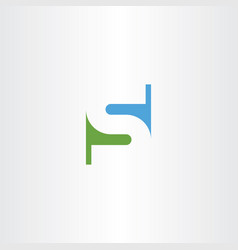 s letter logotype icon green blue symbol vector image