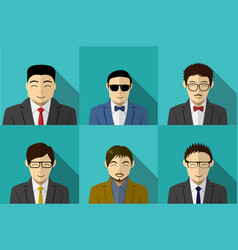 set of modern korean people in portait vector image