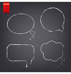 Speech Bubble Drawn With Chalk vector