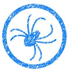 spider grunge icon vector image