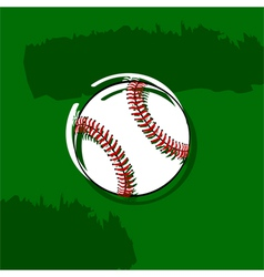 Stylized baseball vector