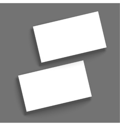 Template for business cards vector image