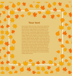 template with autumn leaves in vector image