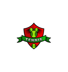 tennis emblem logo designs inspiration isolated vector image