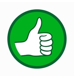 Thumb up icon simple style vector