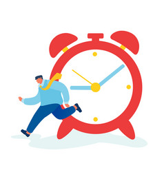 Time as valuable life resource concept hurrying vector