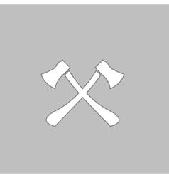 Two axes computer symbol vector image