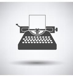 Typewriter icon vector