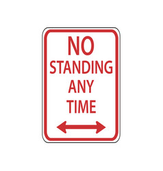Usa traffic road signdo not stand and stop vector