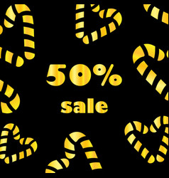 valentines day black and gold sale banner with vector image