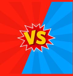 versus comic letters vector image