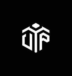 Vp monogram logo with abstract hexagon style vector