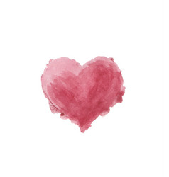 watercolor painted heart vector image