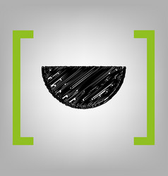 watermelon sign black scribble icon in vector image