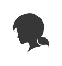 Woman head silhouette female avatar icon vector image