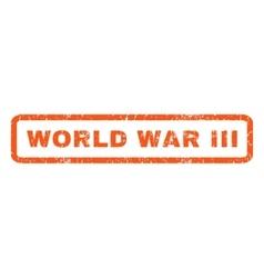 World War Iii Rubber Stamp vector