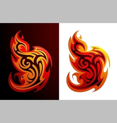 Fire flames tattoo vector