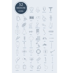 Linear medical icons elements vector image