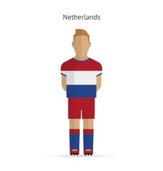 Netherlands football player Soccer uniform vector image vector image