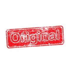 original red grunge rubber stamp vector image vector image