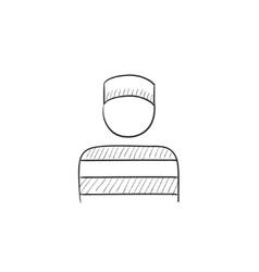 Prisoner sketch icon vector image vector image