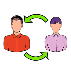 Staff turnover concept icon cartoon vector