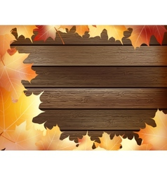 Autumn background with colored leaves plus EPS10 vector image