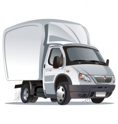cartoon cargo truck vector image vector image
