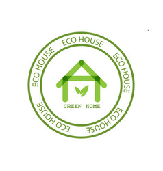 eco house real estate icon vector image vector image
