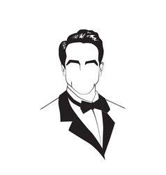 man in a tuxedo vector image vector image