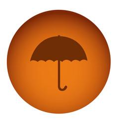 orange emblem sticker umbrella icon vector image vector image