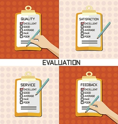 set of Evaluation approve quality check vector image