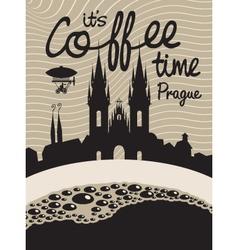 coffee prague vector image vector image