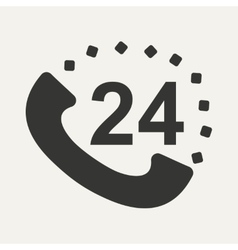 Flat in black and white mobile application call vector image