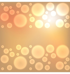 Gold christmas lights background vector image vector image